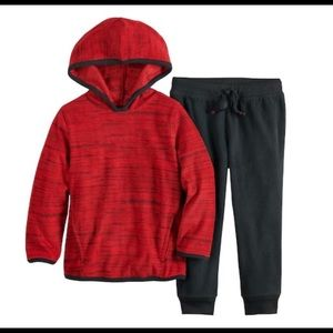 Baby Boy Microfleece Pullover Hoodie & Pants set